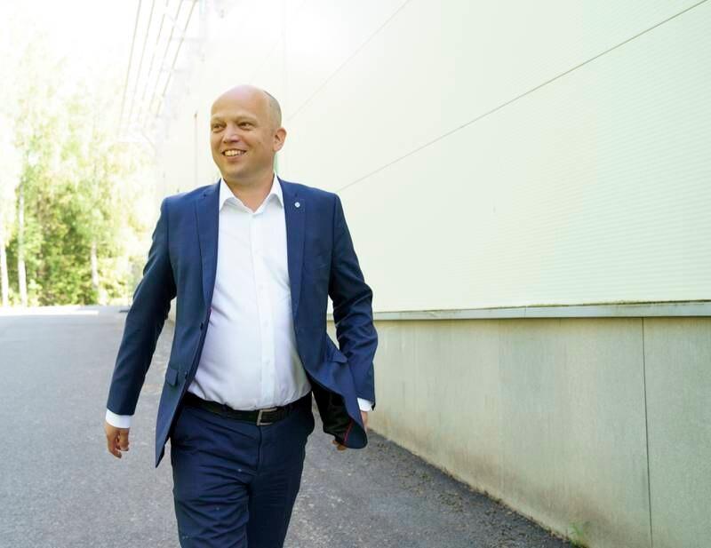 Denne mannen blir Senterpartiets statsministerkandidat i valget til høsten, partileder Trygve Slagsvold Vedum. Foto: Torstein Bøe / NTB