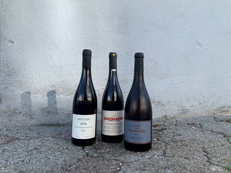 Tre av vinene til Apostolos Thymiopoulos som er på polets basisutvalg.