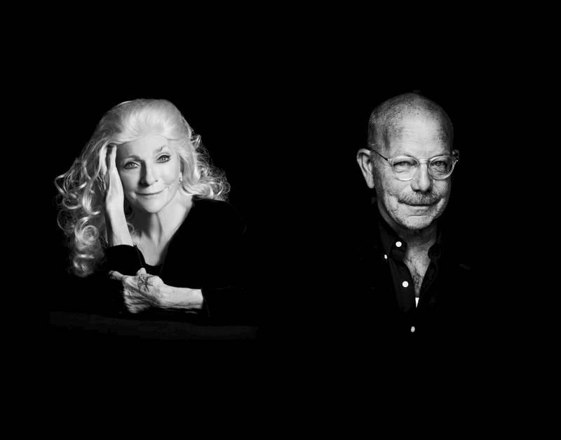 Judy Collins og Jonas Fjeld møttes denne uken igjen for første gang på ett år. Nå skal de gjøre sju konserter i de store byene med sine «Winter Stories», som bragte dem til topps på Billboard-listen før jul i 2019. Foto: Stageway