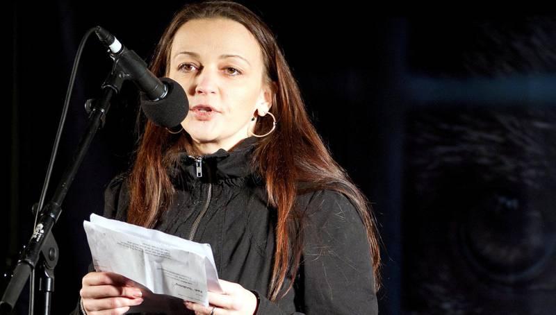 Gjenganger: Serietegner Lise Myhre har stilt i fakkeltoget hvert år.