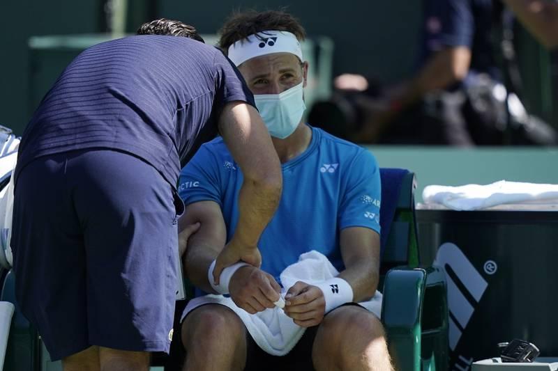 Casper Ruud røk onsdag ut av Indian Wells. Foto: Mark J. Terrill / AP / NTB