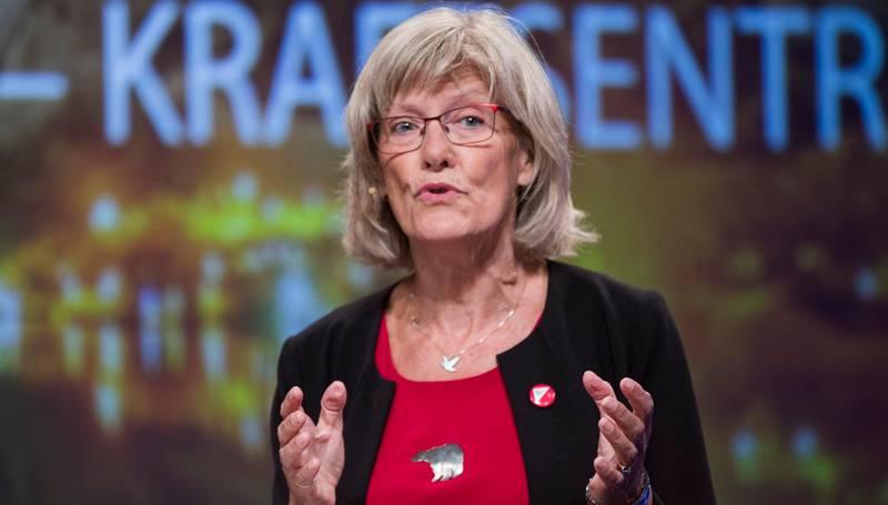 Arendal  20180817. Karin Andersen, stortingsrepresentant (SV) i debatt om fylker og regioner. Foto: Terje Pedersen / NTB scanpix