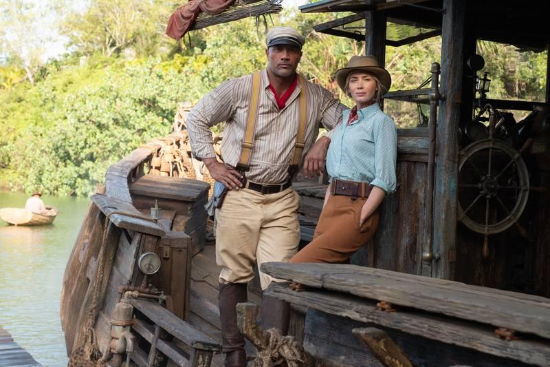 Dwayne Johnson og Emily Blunt i «Jungle Cruise».