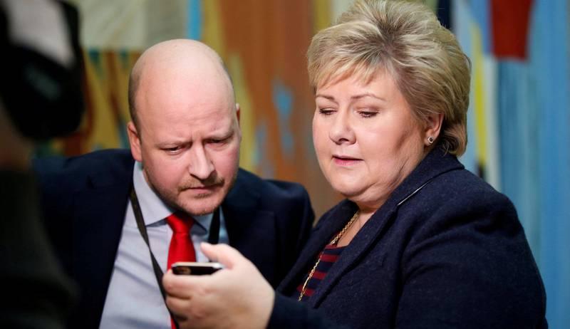 Tett samarbeid: Sigbjørn Aanes jobbet lenge med statsminister Erna Solberg. I Wara-saken er han fortsatt tett på Statsministerens kontor selv i sin nye rolle som partner og seniorrådgiver i First House.