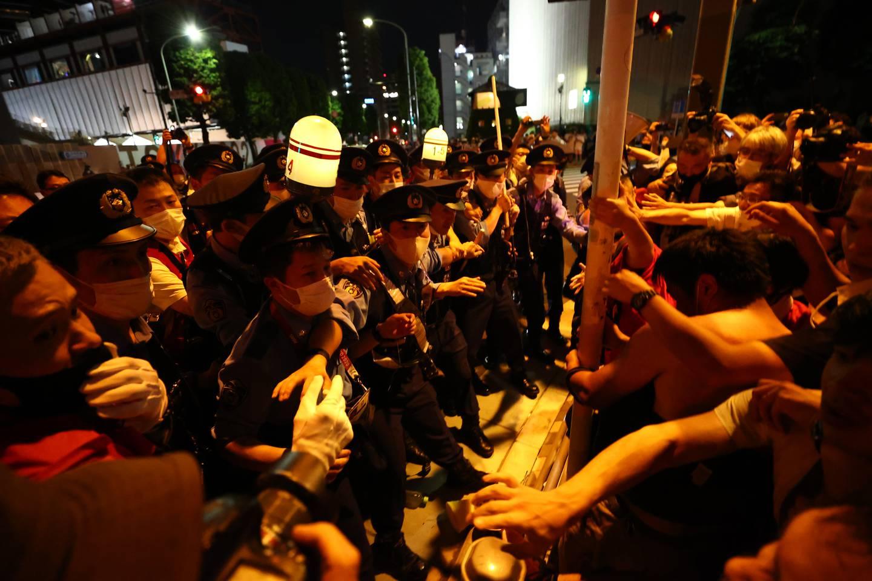 Protester OL Tokyo