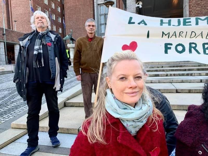 Hanne Kjerstin Bustnes står i front for 20 beboerere i Maridalsveien 128s rett til å få eie sin egen bolig.