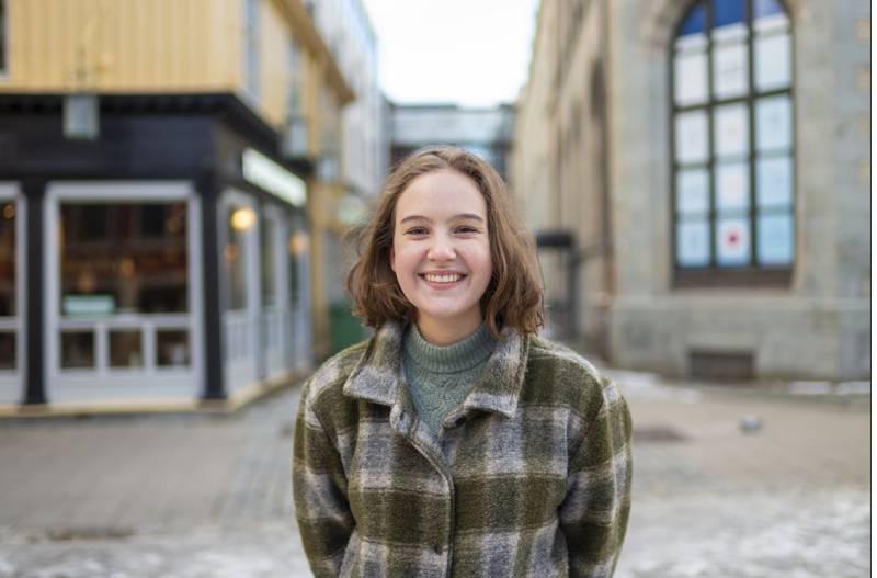 Nora Selnæs. Ungdomskandidat for MDG Trøndelag.
