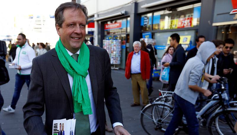 Sentrumspartiet D66 og leder Alexander Pechtold.