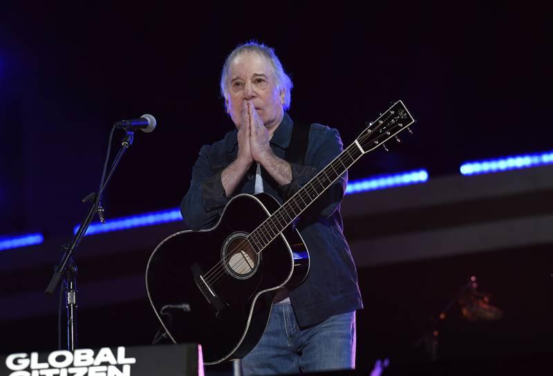 Paul Simon på Global Citizen-konserten i Central Park i New York i september, en konsert mot fattigdom og for vaksiner for alle.
