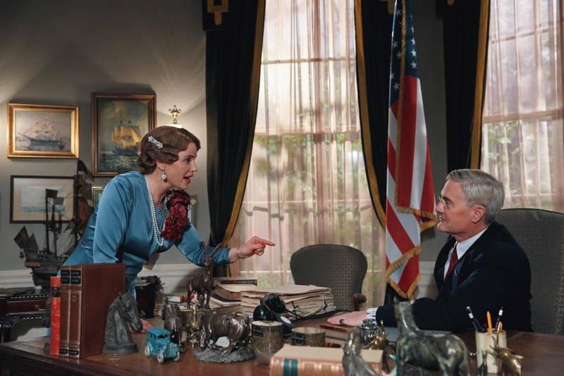 Kronprinsesse Märtha (Sofia Helin) hadde tilgang til president Roosevelts (Kyle MacLachlan) ovale kontor, og visste å bruke anledningen, i følge «Atlantic Crossing».