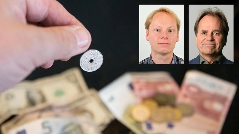 Oslo 20200319. Den norske krona har falt med rundt 30 prosent på en mnd.Foto: Terje Pedersen / NTB scanpix
