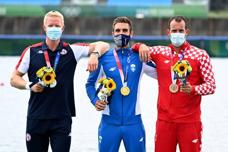 I finalen ble den greske overraskelsen Stefanos Ntouskos for sterk, mens Damir Martin tok bronsemedaljen for Kroatia.