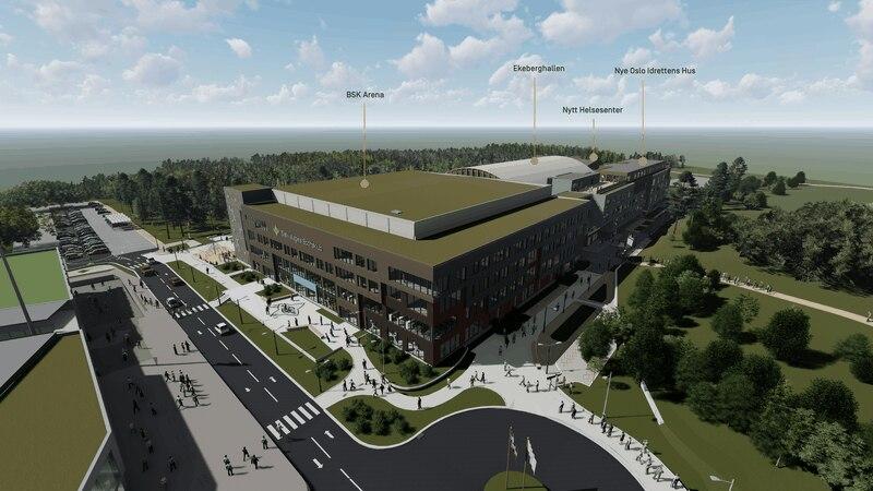 Den nye Ekeberghallen og Campus Ekeberg