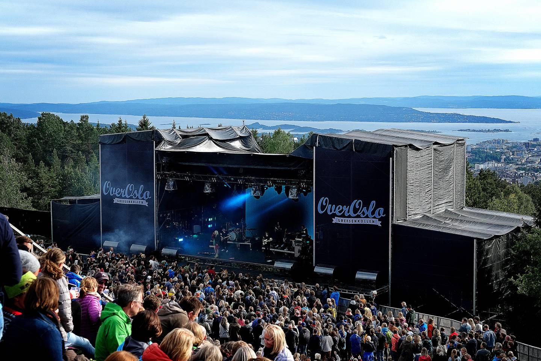 Over Oslo, her i  2018, er nesten som en intimfestival å regne i den store sammenhengen.