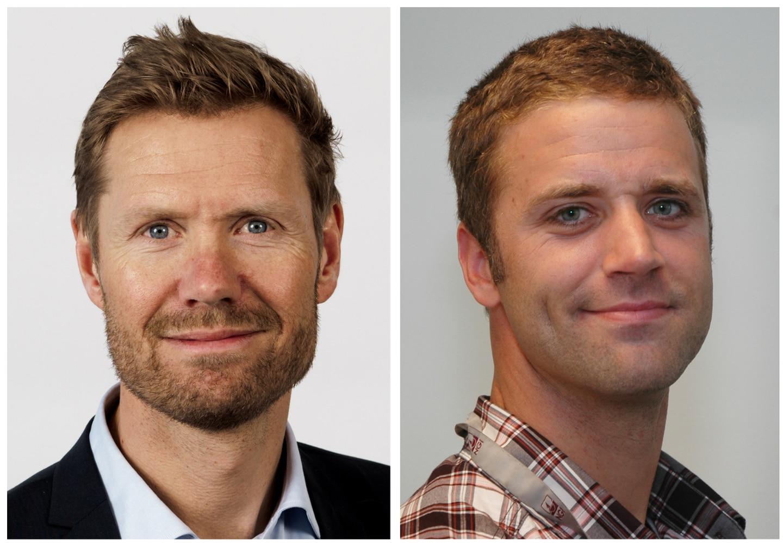 Lars Andresen, administrerende direktør NGI – Norges geotekniske institutt og  Jean-Sébastien L'Heureux, PhD, avdelingsleder for geoteknikk og naturfare NGI.