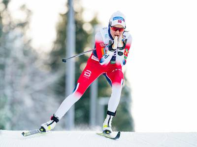 Therese Johaug vant 5-kilometeren og tangerte Skari og Brå i antall NM-titler