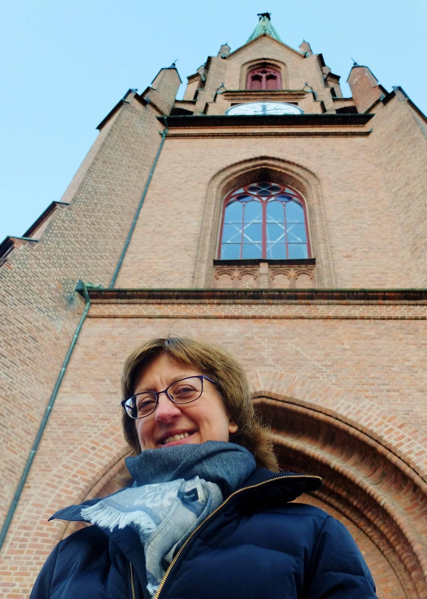 *** Local Caption *** Kantor Beate Strømme Fevang i Bragernes kirke er sammen med mannen Jørn Fevang primus motor for den årlige Adventsfestivalen i Drammen. Konserter i flere kirker strekker seg gjennom desember måned. FOTO: KATRINE STRØM