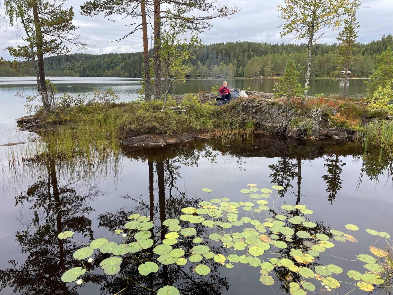 Rast ved Prestvannet i Øvre Eiker.
