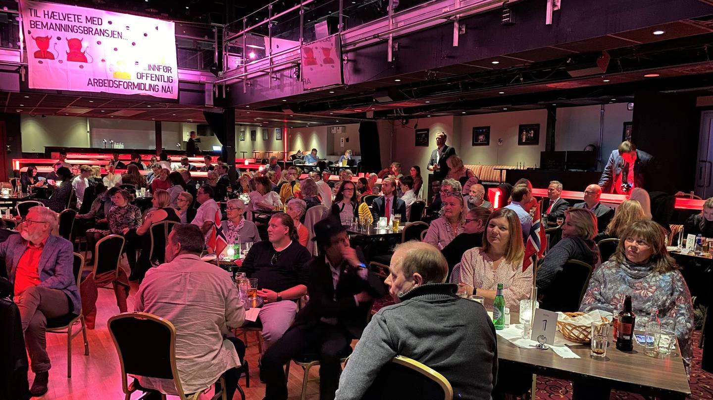 LO, Arbeiderpartiet og SVs valgvake i Fredrikstad 2021, på City Scene.