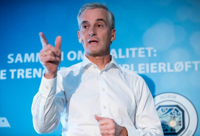 Ap-leder Jonas Gahr Støre. FOTO: NTB SCANPIX