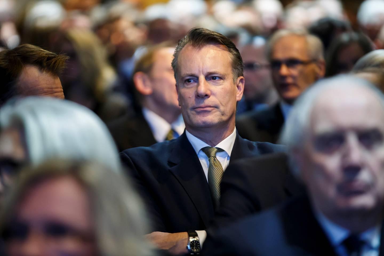 OSLO  20160218. Johan Andresen på plass i Norges Bank for å høre på sentralbanksjefens årstale. Foto: Heiko Junge / NTB scanpix