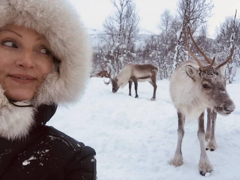 Forfatterdebutant Grethe Bøe i Finnmark.