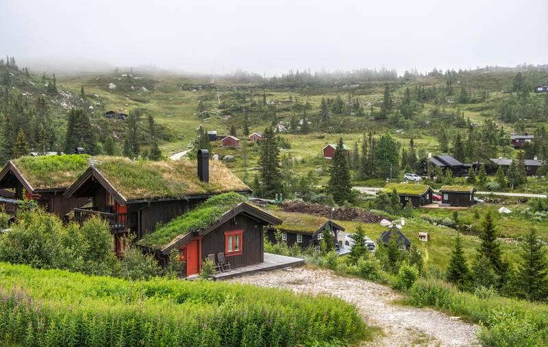 Tempelseter 20200718 Hytter i hyttefelt på Tempelseter i Eggedal, i Sigdal kommune i Viken. Foto: Halvard Alvik / NTB