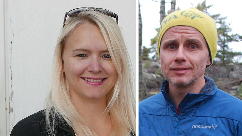 Silje Louise Waters, gruppeleder i SV og Erik Skauen, gruppeleder i MDG.