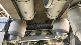 Tre av fire aksler var løse på vogntog-henger