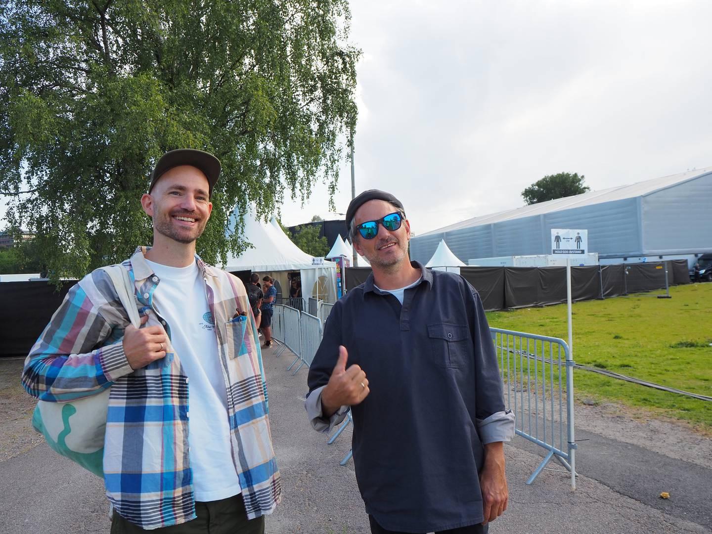 Torstein Dragseth og Anders Salomon Lidal gleder seg til å drikke øl og høre livemusikk. Aller mest gleder de seg til å høre Jaga Jazzist.