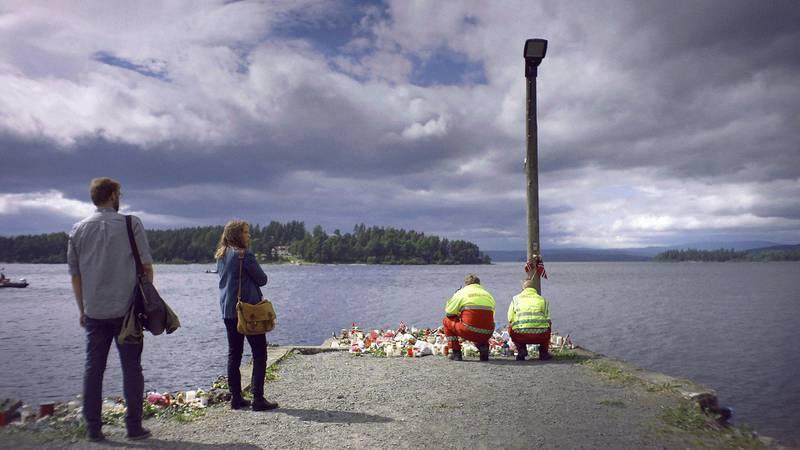 «22. juli» – Sara Johnsen og Pål Sletaunes gjenfortelling av dagene og tida etter terrorangrepet ble vist på NRK i januar, og står igjen som årets sterkeste TV-opplevelse. Foto: NRK