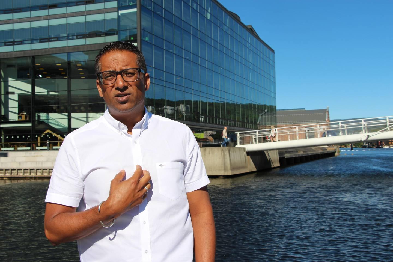 Varaordfører i Drammen Yousuf Gilani. FOTO: KENNETH LIA SOLBERG