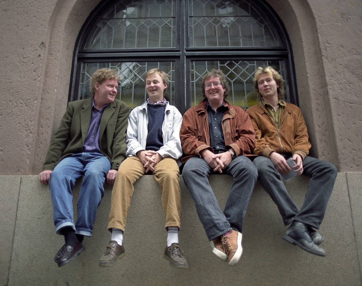 Året er 1991, og jazzbandet Masqualero har nettopp gitt ut ny plate, «Re-Enter». Gruppens medlemmer er f.v.: Jon Christensen, Tore Brunborg, Arild Andersen og Nils Petter Molvær.