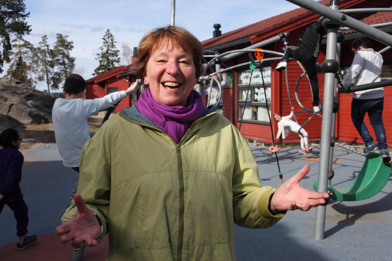 Marianne Borgen (SV), her i aktivitetsskolen.
