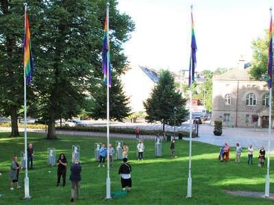 Pride-flaggene igjen til topps i Fredrikstad