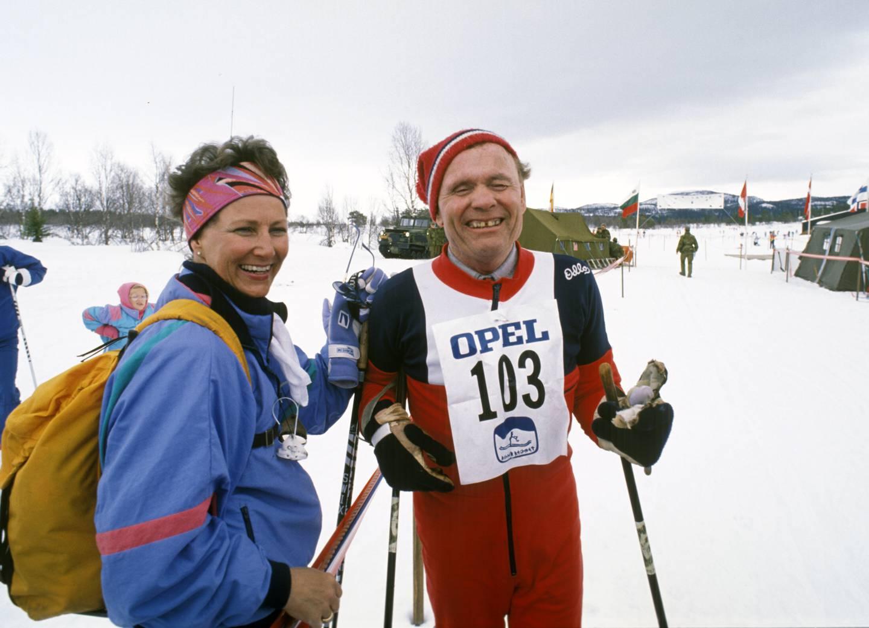 Erling Stordahl (1923-1994) startet i 1964 Ridderrennet for blinde på Beitostølen. I 1988 gikk han rennet sammen med daværende Kronprinsesse Sonja.