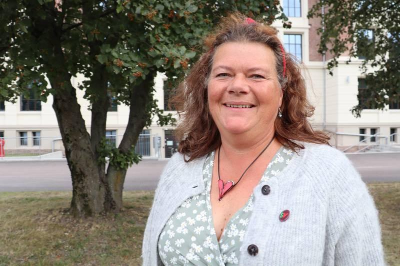 Førstekandidat for SV i Buskerud, Kathy Lie.