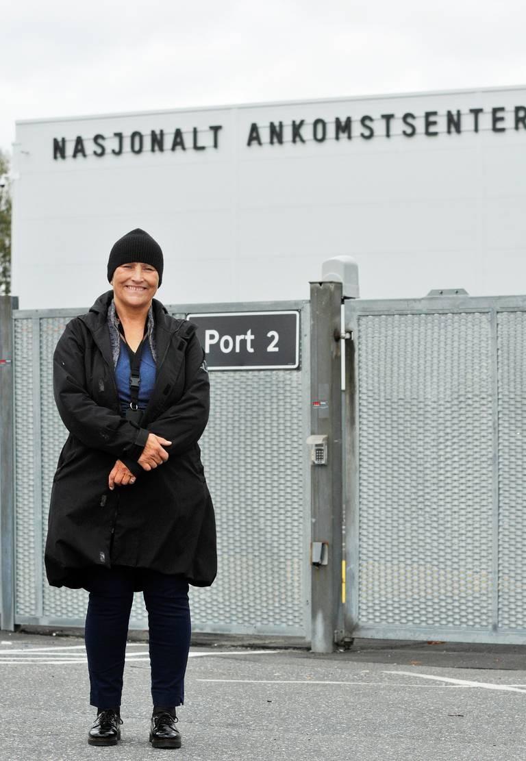 Mottaksleder Britt Scharffenberg ved Nasjonalt ankomstsenter.