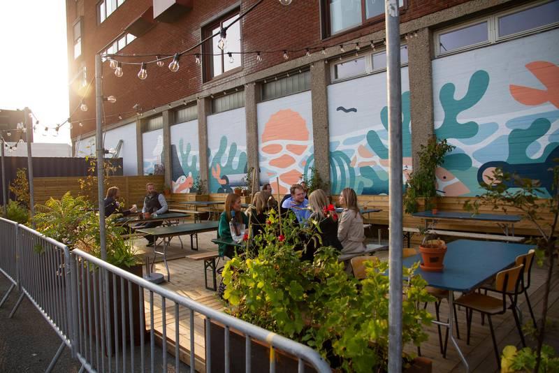 Mohn restaurant på Filipstad. Til Byløvene.