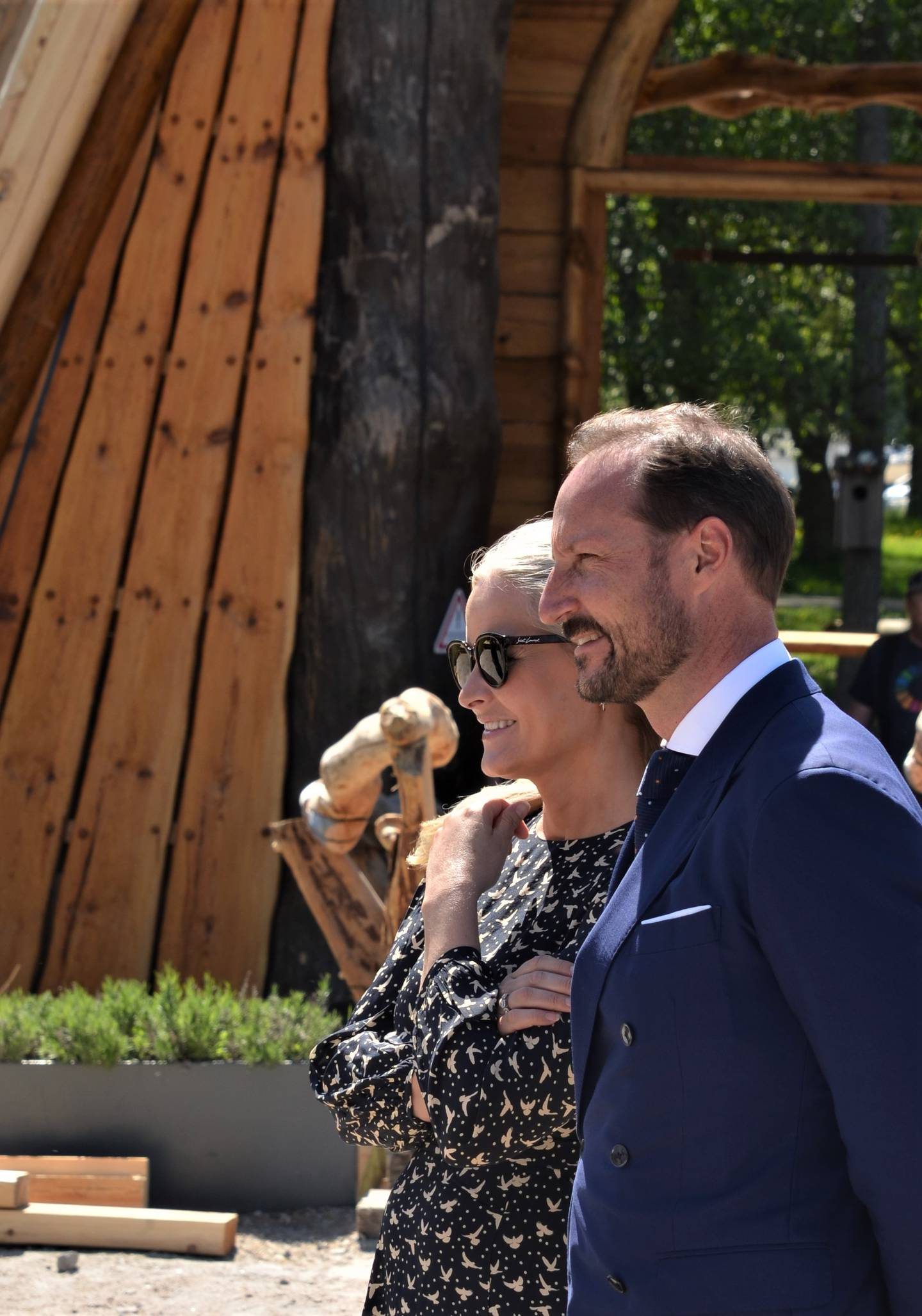 Kronprins Haakon og kronprinsesse Mette-Marit.