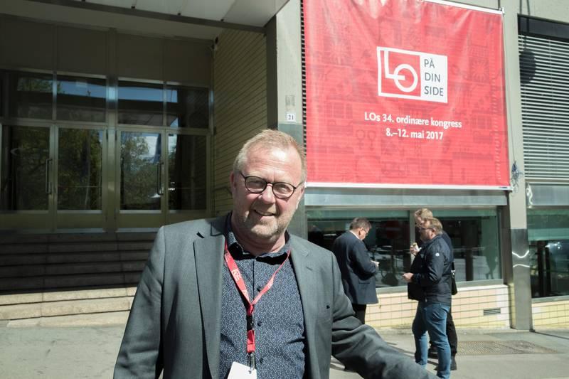 Oslo  20170508. Forbundsleder Jan Olav Andersen i EL og IT Forbundet.  Foto: Vidar Ruud / NTB scanpix
