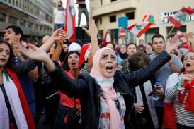 Demonstrasjoner for og imot presidenten i Beirut