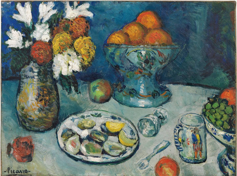 Alt var kunst sett med Picassos øyne. Dette stillebenet ble malt i Paris i 1901.