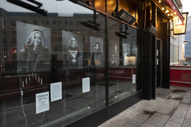 Utstilling på Café Fiasco i Oslo sentrum.