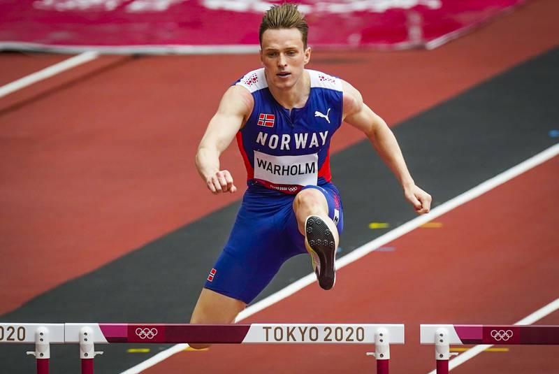 Karsten Warholm tok seg søndag til OL-finalen på 400 meter hekk. Foto: Lise Åserud / NTB