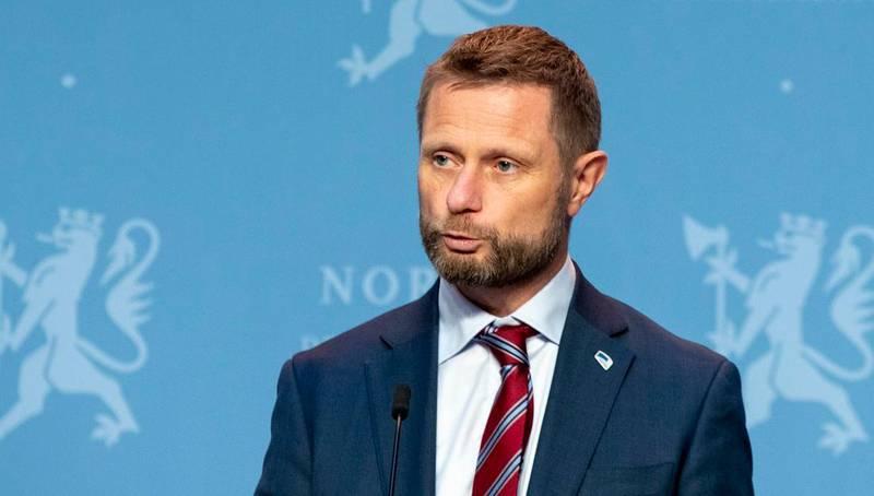 Oslo 20201021.  Helse- og omsorgsminister Bent Høie (H) på pressekonferanse om koronasituasjonen. Foto: Terje Pedersen / NTB