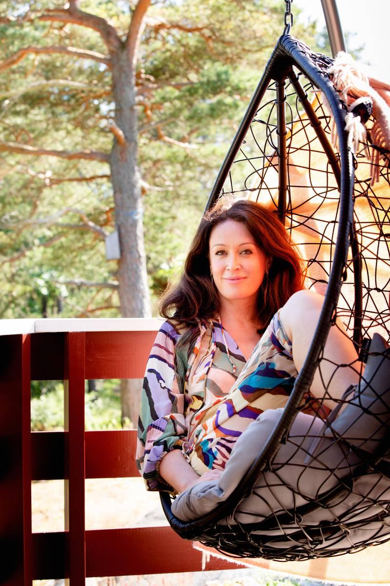 Søndre Sandøy, Hvaler. Ingeborg Heldals hytteparadis en en enkel hytte i skogen på Søndre Sandøy.