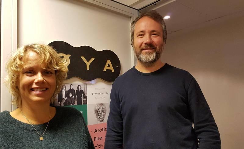 Bilde av Daglig leder Tonje Kaada i Øyafestivalen sammen med kunstnerisk leder Claes Olsen.