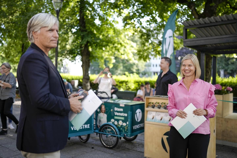 Partileder og 1. kandidat i Oslo, Guri Melby og andrekandidat Ola Elvestuen kan juble for Opinions siste Oslobarometer. Der ligger begge an til å komme inn på Stortinget til høsten.