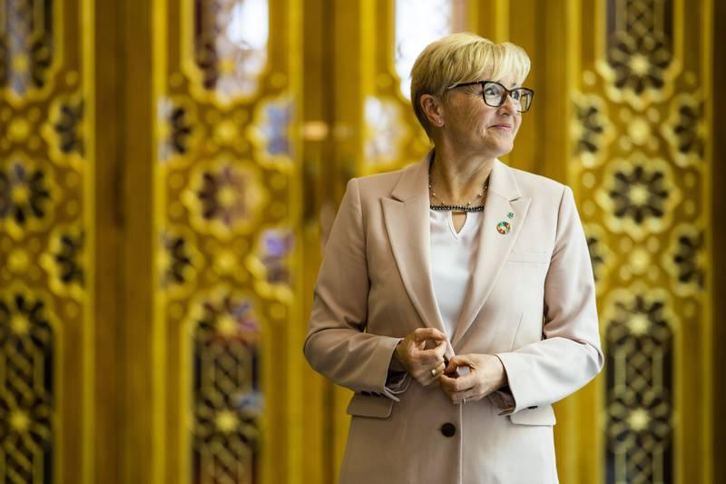 Liv Signe Navarsete (Sp) i er snart ferdig som stortingspolitiker, men har ikke lagt store planer for hva hun skal gjøre etterpå.